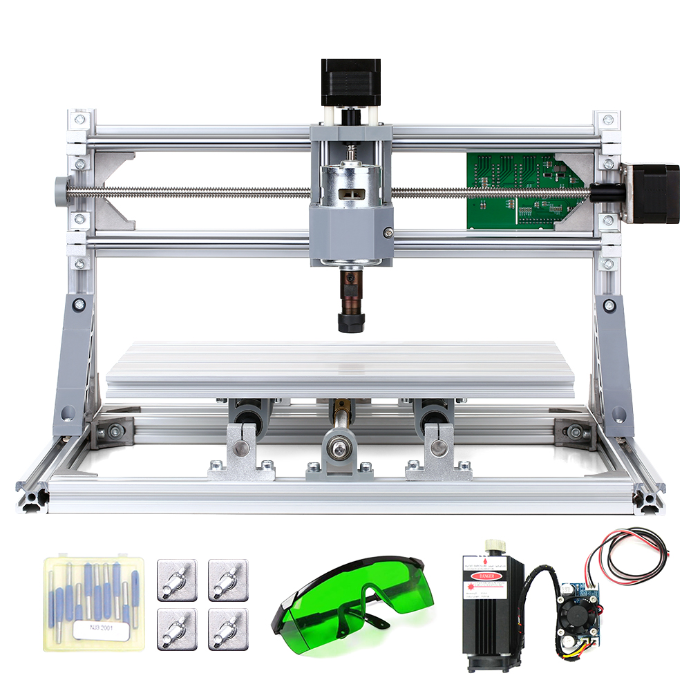 5500mW Laser Engraving Machine Professional Mini CNC Wood Carving Milling For PCB PVC With ER11 Collet & Protective Glasses
