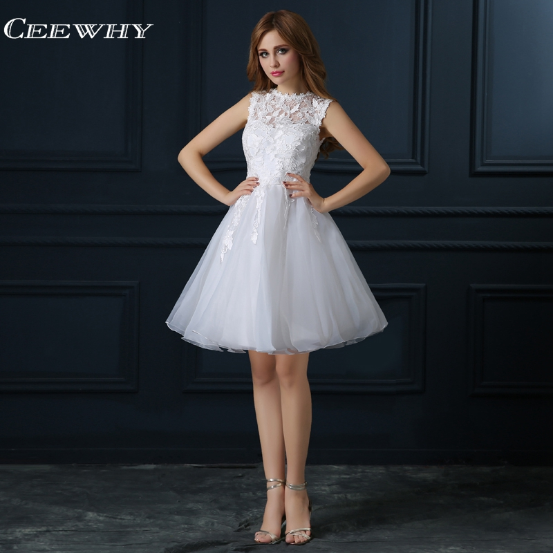 CEEWHY Lace Formal   Dress   Elegant   Cocktail     Dresses   Knee Length   Cocktail     Dress   Graduation Homecoming   Dresses   Vestidos de Coctel