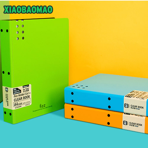 business A4 Document Storage Filing Products Insert Test Paper Booklet Folder Multi-layer 30/40/60/80 Sheets Fichario Escolar deli a3 data document presentation folder 297 420mm 60 40 page transparent folder vertical insert document booklet