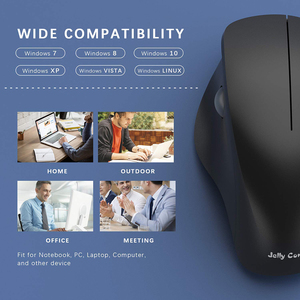Image 4 - Jelly Comb 2.4G USB Wireless Mouse Silent Mice Ergonomic Vertical Mouse for Windows Computer Laptop PC Desktop Optical Mause