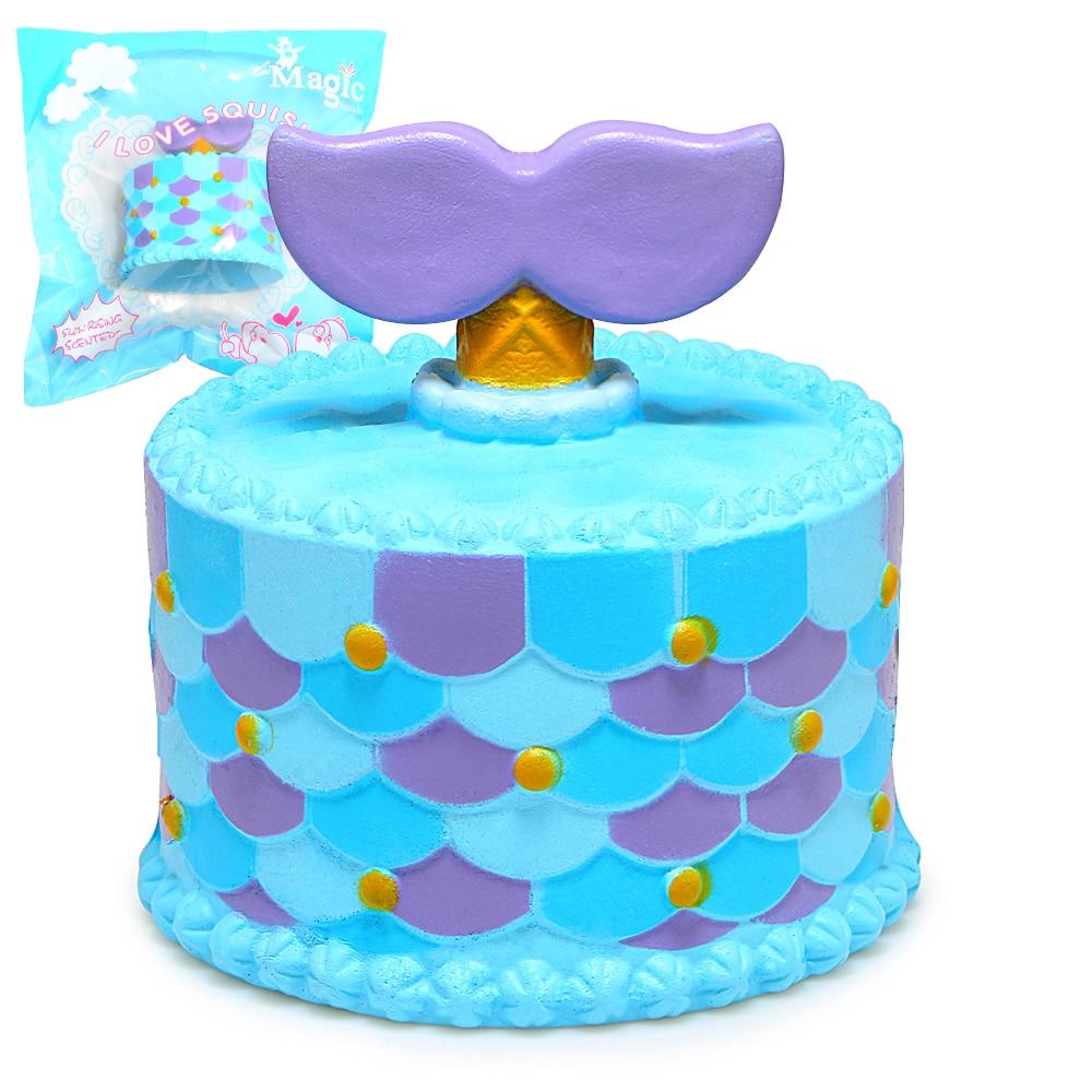 Aliexpress.com : Buy Jumbo Squishy Cute Mermaid Cake Squishies Super Slow Rising Cream Scented ...