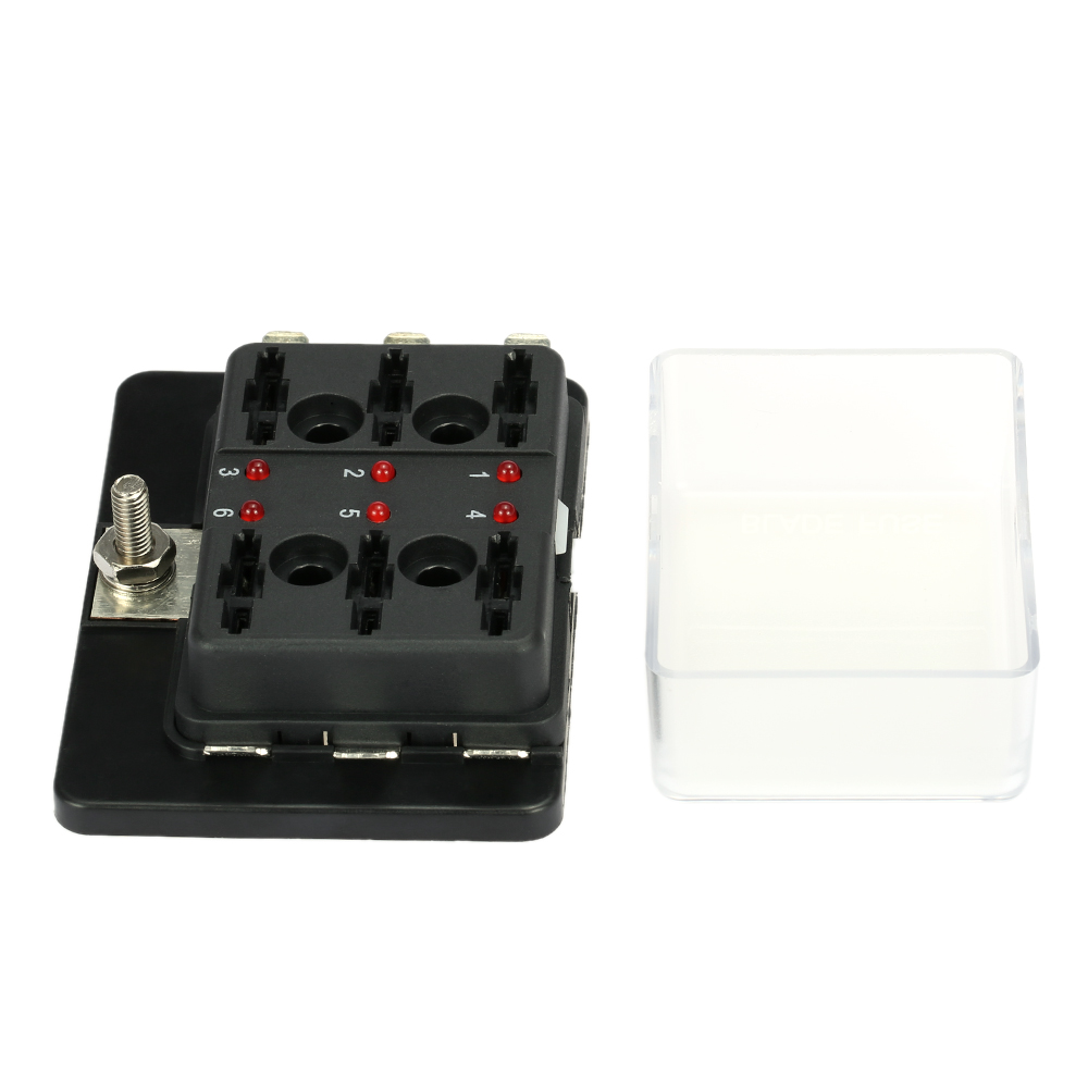 small resolution of 6 way blade fuse box holder with led warning light kit for car boat marine trike 12v 24v in fuses from automobiles motorcycles on aliexpress com alibaba
