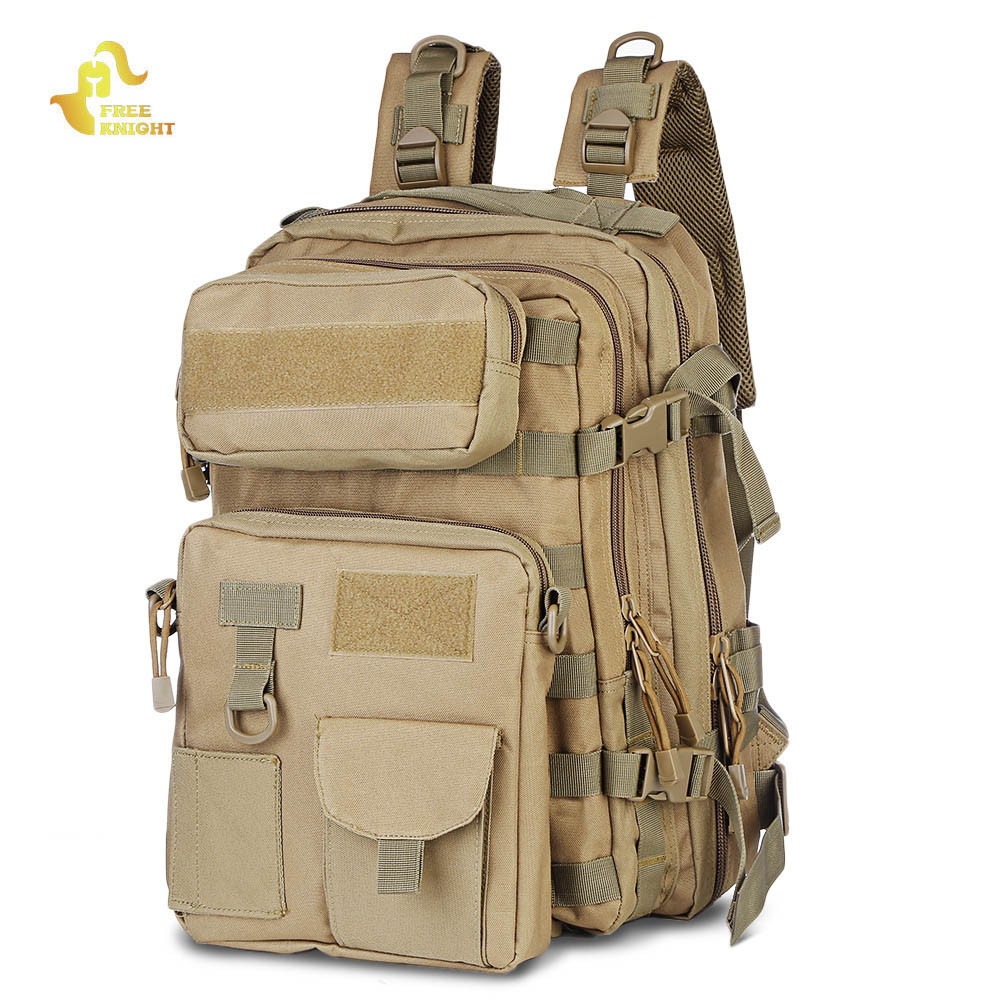 купить Free Knight 30L Military Tactical Backpack Assault Pack Bug Out Molle Bag Military Rucksack Camping Trekking Hiking Backpack недорого