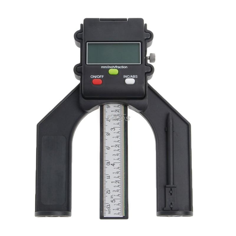 Digital LCD Magnetic Feet Aperture 80mm Hand Router Self Standing Depth Gauge T12 Drop ship