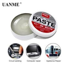 UANME 1PC 10g Silver Weak Acid Soldering Solder Paste Solder Flux Grease Paste BS-10 4.5cm Semi Solid