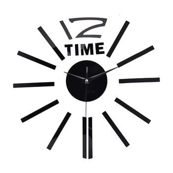 3D Real Big Wall Clock Rushed Mirror Wall Sticker DIY Living Room Home Decor Fashion Acrylic Watches Arrival Quartz Wall Clocks 7