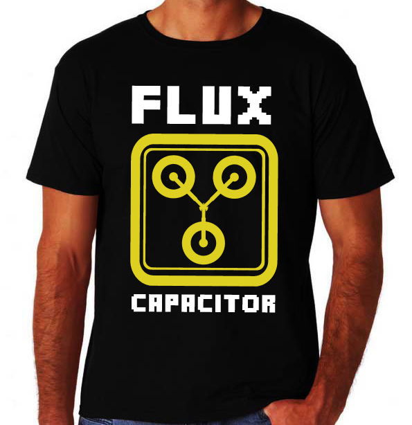 Flux Capacitor 80s Party Comedy Adventure Movie Back To Future New Mens T-Shirt 2017 New Short Sleeve Men T Shirt