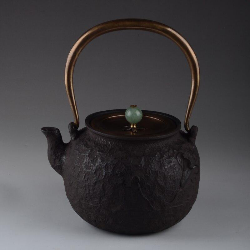 Genuine Cast Iron Teapot Japanese Tea Pot Set Tetsubin Kettle 1000ml Drinkware Cooking Kitchen Tools Kung Fu Infusers Wholesale