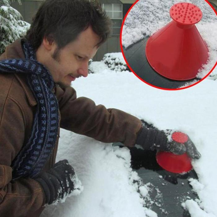 HTB1GE4GX2jsK1Rjy1Xaq6zispXa3 - 2 In 1 Oil Funnel Remover Magic Shovel Cone Shaped Outdoor Winter Car Tool Snow Windshield Funnel Ice Scraper Car Accessories