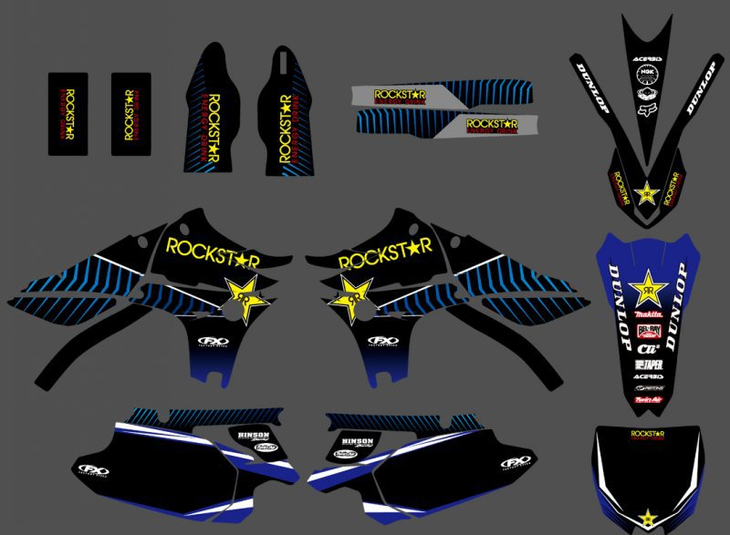 GRAPHICS & BACKGROUNDS DECALS STICKERS Kits For Yamaha YZ450F YZF450 2010 2011 2012 2013 YZ 450F YZF 450