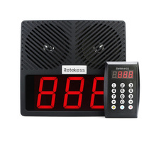 RETEKESS TD101 Restaurant Keypad Pager 433MHz Wireless Calling Paging System With Loudspeaker LED Display For Bank Hospital one set pager system for restaurant 2 display with software work with 40pcs single key waterproof buzzer free dhl shipping