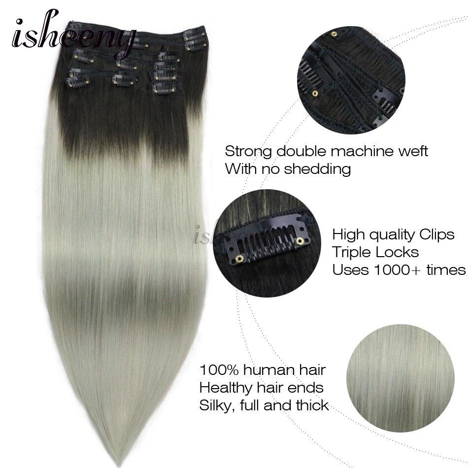 extensão do cabelo Sem Costura Extensões Grampo