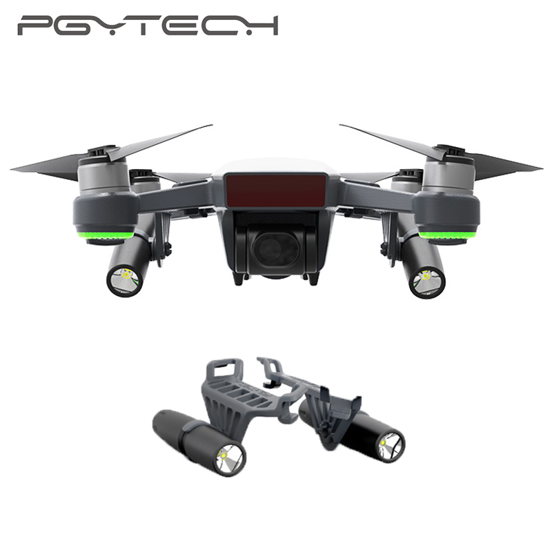 PGYTECH DJI Spark Led Light For DJI Spark Portable Night Flight LED Light Lighting Drone Accessories квадрокоптер dji spark синий