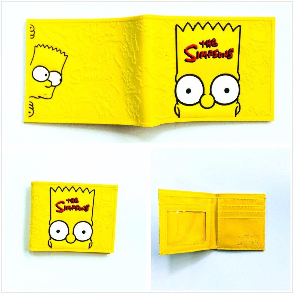 2018 Simpsons Bart Homer Cüzdan Erkek Gitar Karikatür Cüzdan Bart
