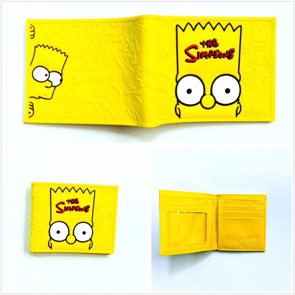 2018 Die Simpsons Bart Homer Brieftasche Männer's Gitarre Karikaturmappe Bart Kunststoff Leder Brieftasche W994q