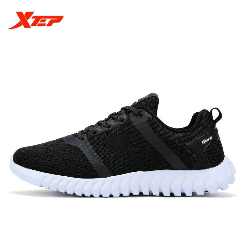 ФОТО XTEP 2017 Flyknit Men's Running Shoes Black Training Breathable Massage Sneakers Men Presto outdoor sports shoes 983119115991