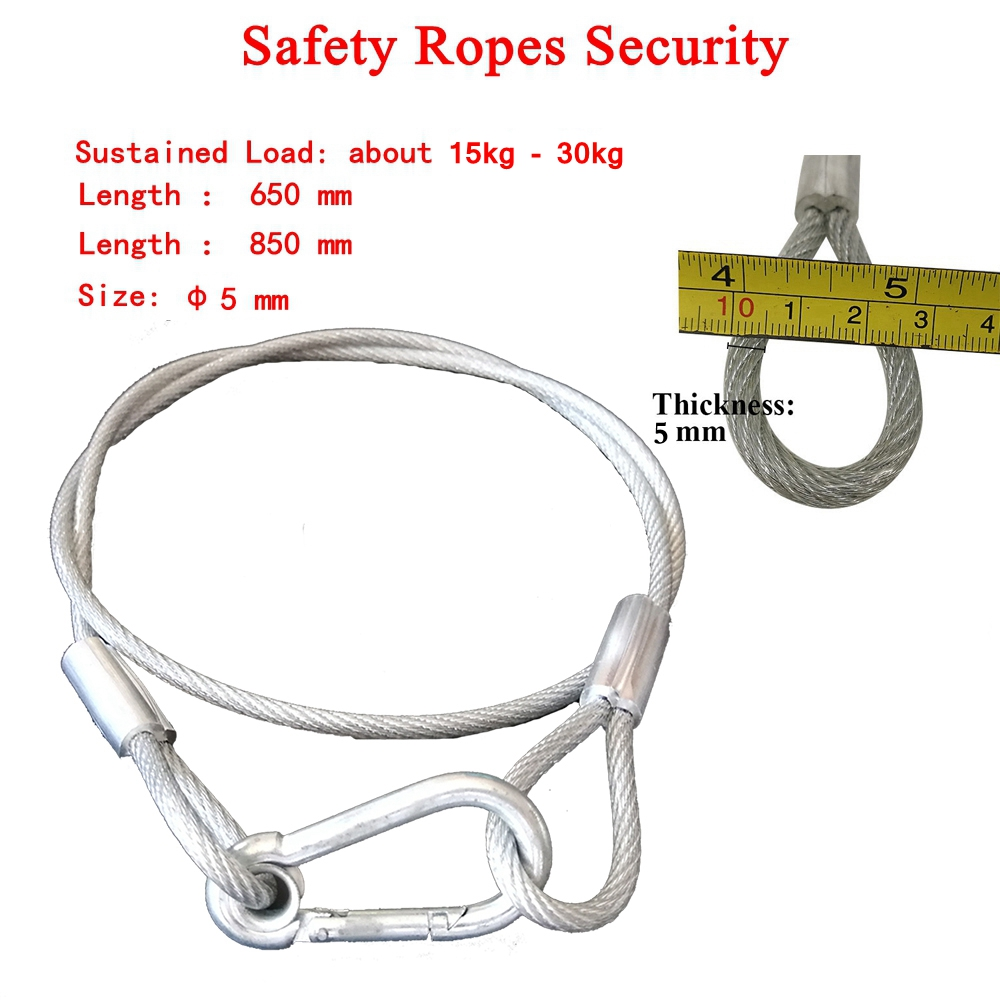 Stainless Steel Rope Loading Weight 25kg-50kg 5mm Thickness Safety Wire Stage Light Ropes Security For Securing Stage Lighting