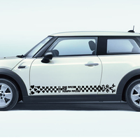 free shipping flower love peace graphic vinyl stripe car sticker for john cooper works hatch or cluman or country man