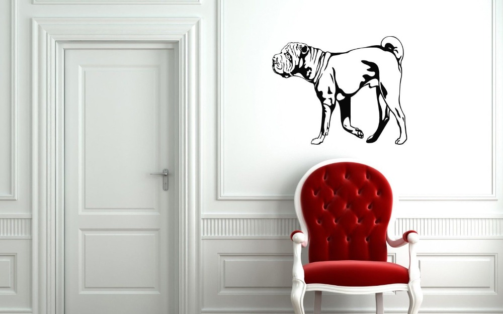 Chinese SharPei Dog Puppy Breed Pet Animal Family Wall Sticker Decal Mural image