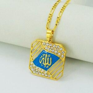 Image 5 - Подвеска и ожерелье Anniyo с пророком Аллах для женщин/мужчин, ожерелья золотого цвета с исламием, стандартные товары #027506