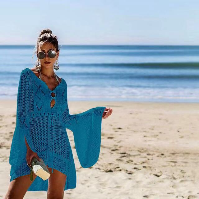 AliExpress Letnia plaża nosić tuniki na plaży okrycie na