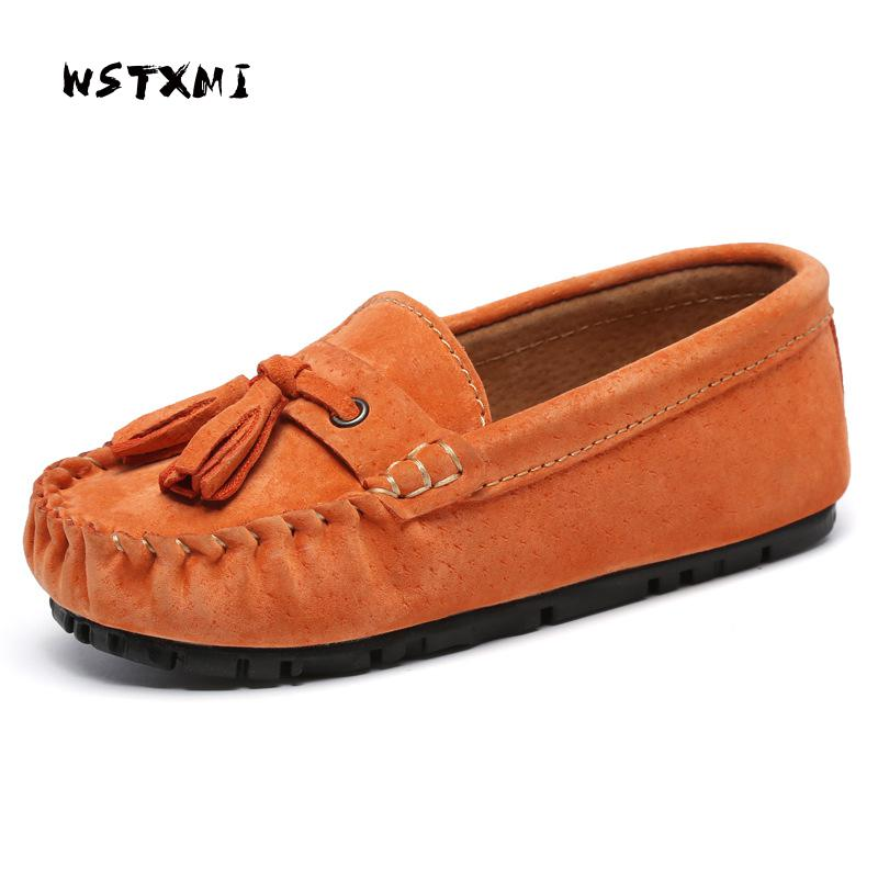 Children Shoes for Boys Baby Genuine Leather Loafers Moccasins Girls Casual Slip-on Tassel Flats Sneakers(Toddler/Little Kid) girl and boy loafers shoes sneakers slip on girls winter kid casual boys shoe black breathable children flats sporting shoes