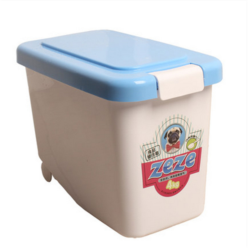 pet dog food container cats sealed storage box with spoon gamelle pour de gato cani