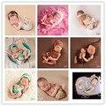 Adereços para a fotografia do bebê recém nascido bodysuit + headband da flor 2 pcs conjunto rendas 9 cores estilos estúdio foto clothing traje
