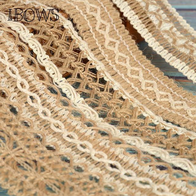40mm Jute Burlap Ribbon Natural Hollow Out Hemp Ribbon Braided Rope DIY  Material Wedding Party Crafts Decorative Gift Warrping-in Ribbons from Home  &