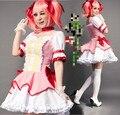 M-L Puella Magi Madoka Magica Cosplay Girl Halloween Kaname Madoka Costume Women Cosplay Dress Maid Clothing