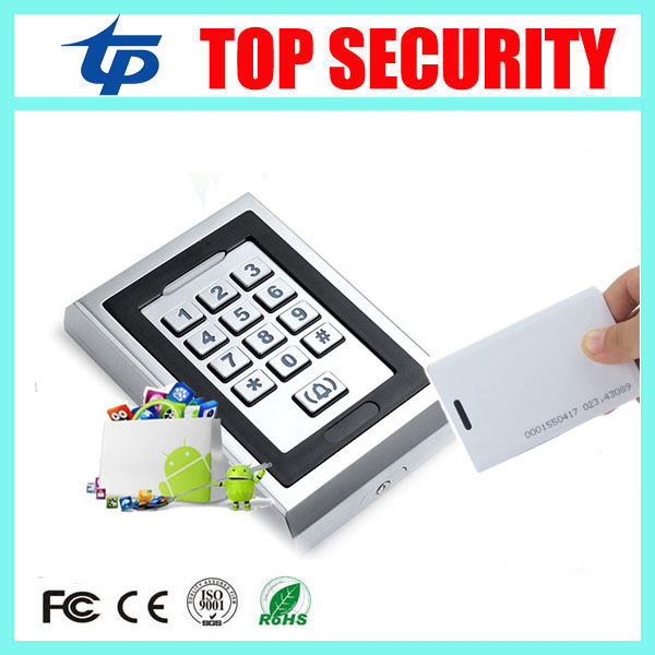 Good quality surface waterproof access control card reader 8000 users standalone 125KHZ RFID card access controller system rfid ip65 waterproof access control touch metal keypad standalone 125khz card reader for door access control system 8000 users