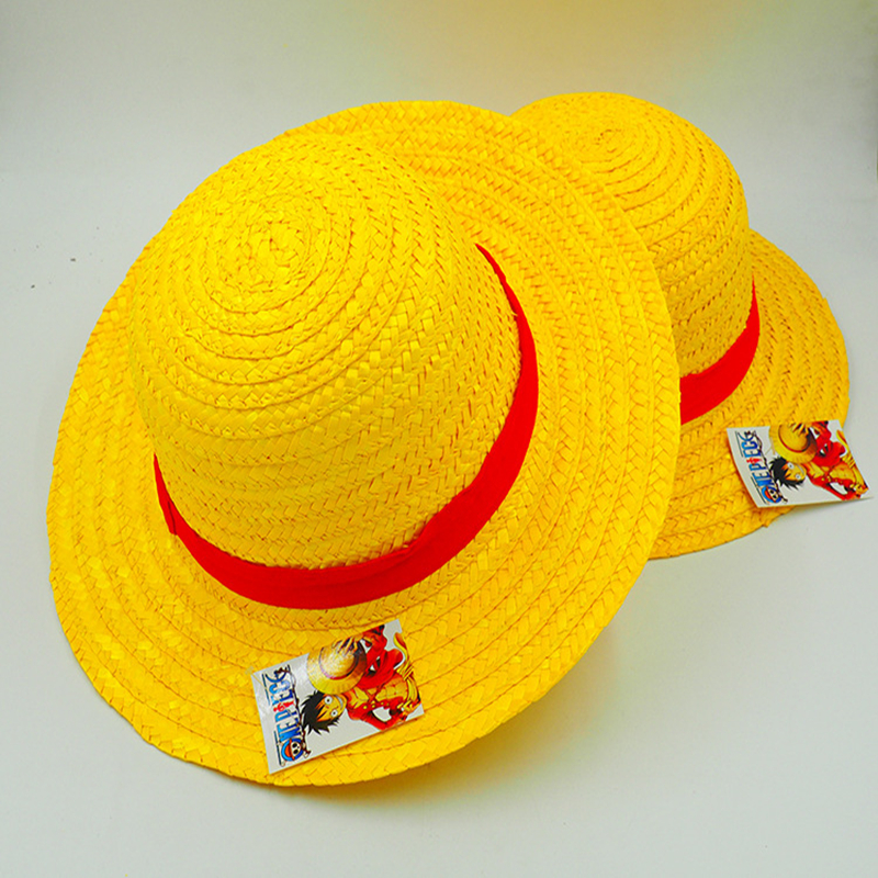 Anime Cosplay Straw Hats Japanese One Piece Luffy Hat Cartoon Cap Cute Solid Unisex Caps ...
