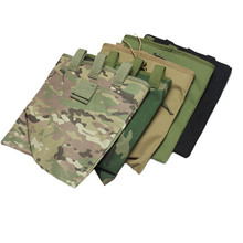 Large Capacity Military Tactical Airsoft Paintball Hunting Folding Mag Recovery Dump Pouch W/ Molle Belt Loop