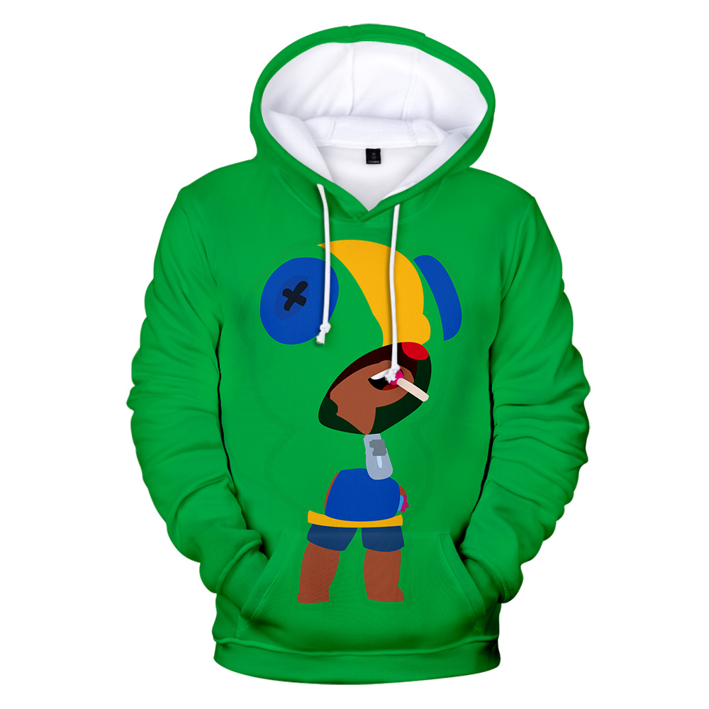 Fashion Harajuku 3D BRAWL STARS Hoodies Sweatshirt Men Women Children Autumn Winter O-Neck Lovely BRAWL STARS boy/girls Hoodie(China)