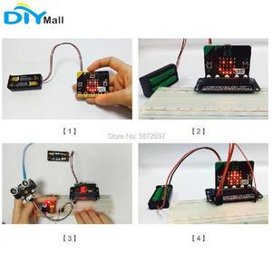 Image 5 - 100 adet/grup pil kutusu tutucu kapak kabuk 3V PH2.0 Interface14cm kablosu için mikro: bit 2 adet AAA pil DIYmall