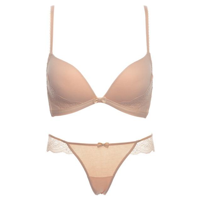 Soutien Gorge Cotton Push Up Bras for  Women underwear Set Seamless Deep V cup brassiere for women  lace bralette brassieres