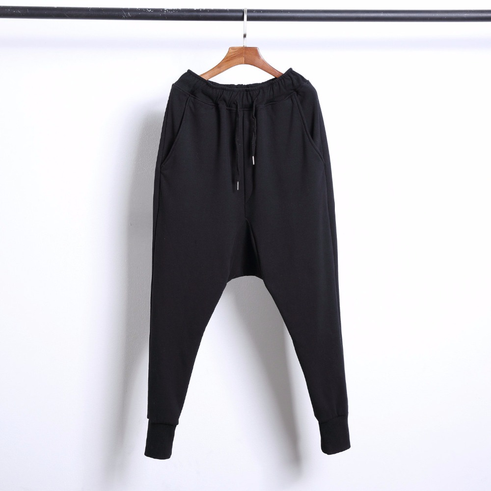 Pantalones Hombres Harem Tamaño Estilista Engrosamiento Nueva 44 Abajo Cordero Y Moda Negro Pelo De Ropa La 2018 Los Trajes 27 Cachemira Plus Cantante YTaqwa4
