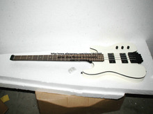 Best Selling  white 4 strings NO Head Electric Bass High Quality Headless bass free shipping(you can customize any color)