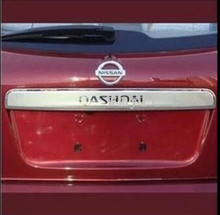 Для Nissan Qashqai нержавеющей стали багажника загрузки задняя дверь поручень накладка 2008 2009 2010 2011 2012 2013