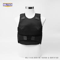 Militech Black Female NIJ IIIA 3A and Level 1 Stab Concealable Twaron Aramid Bulletproof Vest Covert Ballistic Bullet Proof Vest