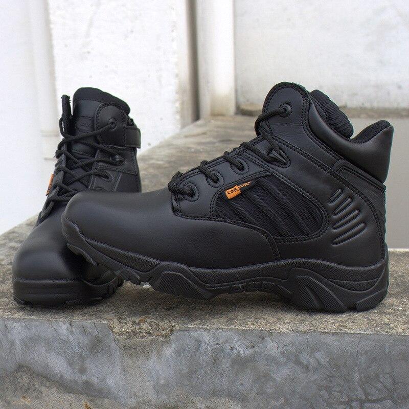 Couro De Combate Do Tornozelo Qualidade Beige Militar Táticas Botas Clássico Barcos Zapatosv Homens Deserto black Exército Trabalho Sapatos Tacticos OHwqBFA