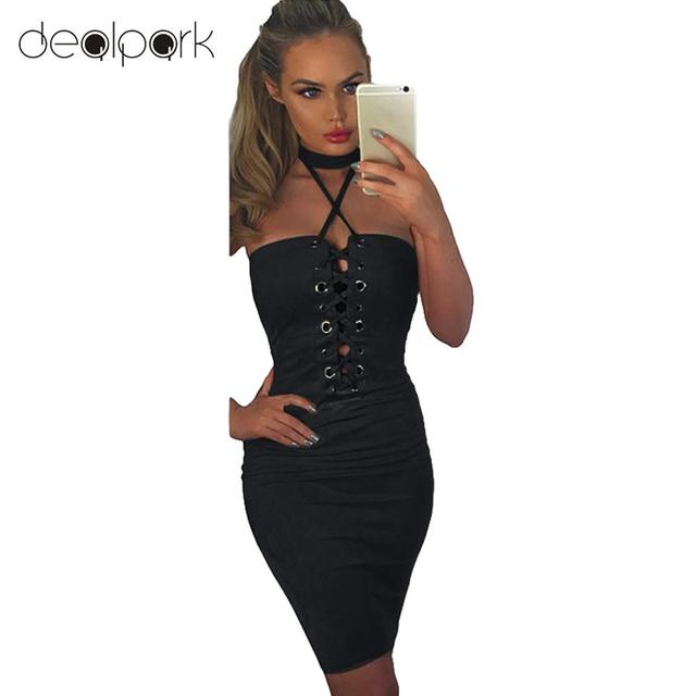 92fe9a9ec3b Sexy Women Summer Off Shoulder Dress Halter Crisscross Bandage Bodycon  Backless Mini Tube Dress Party Clubwear