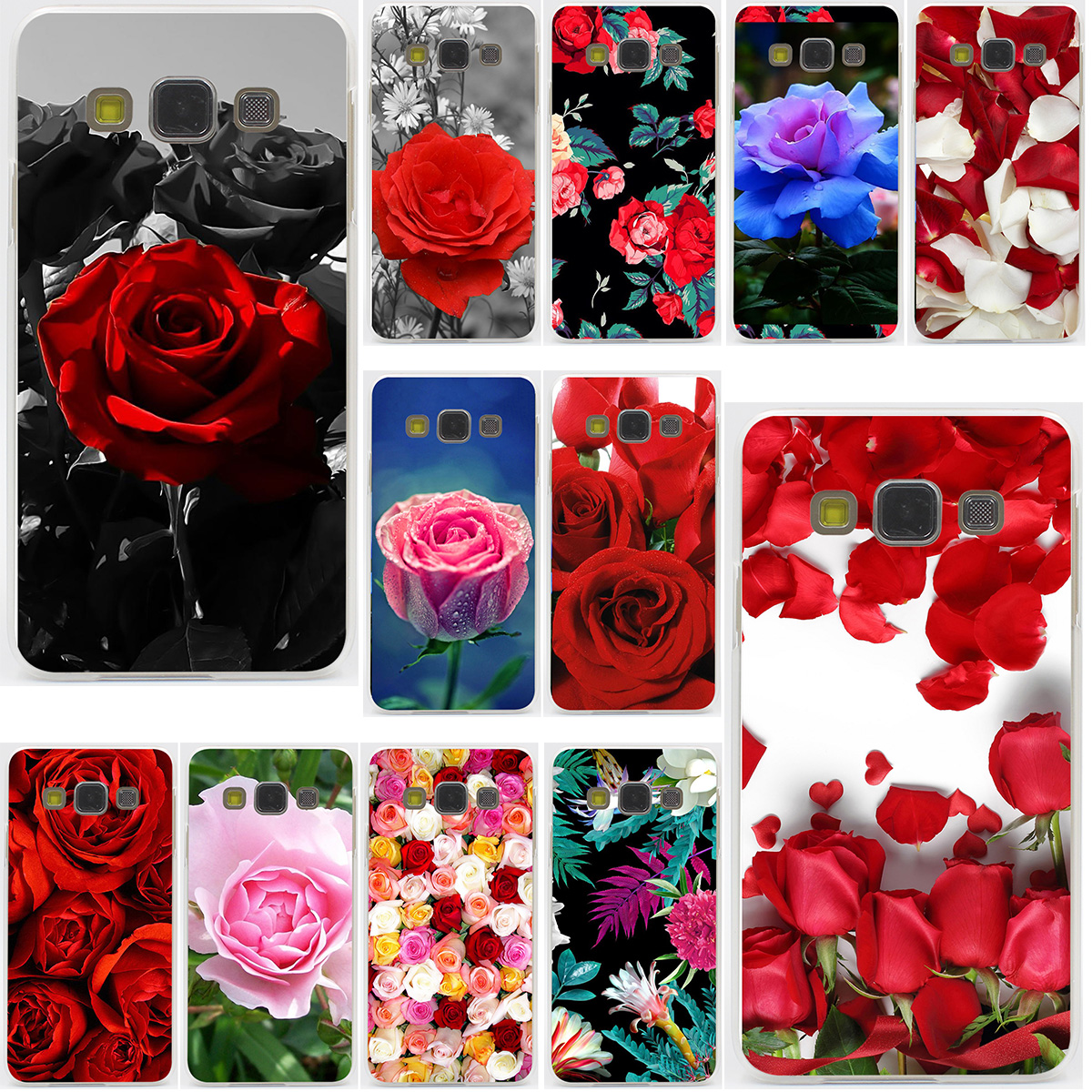 Valentinstag rosen blumen Harte für Samsung Galaxy A3 A5 J3 J5 J7...