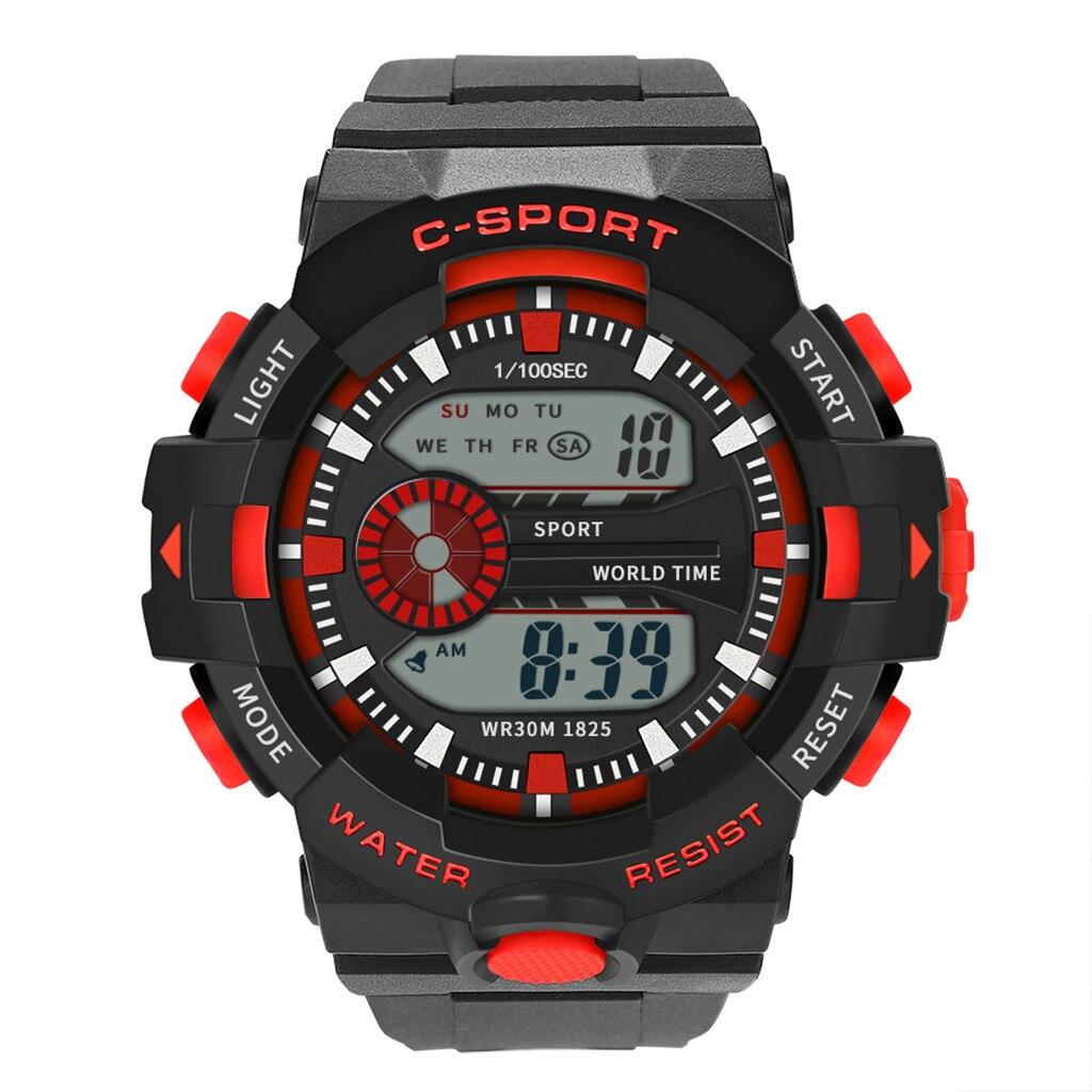 2019 Neuestes Design Sport Armbanduhr Männer Analog Digital Military Sport Led Wasserdichte Armbanduhr Neue Smart Uhr Tropfen Verschiffen L1220 #1 Neueste Technik
