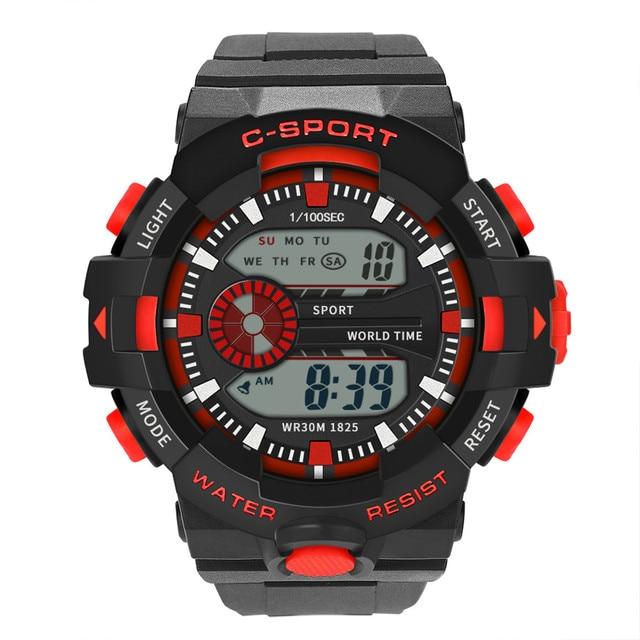Sports Wrist Watch Men Analog Digital Military Sport LED Waterproof Wrist Watch New Smart Watch Drop Shipping l1220#1