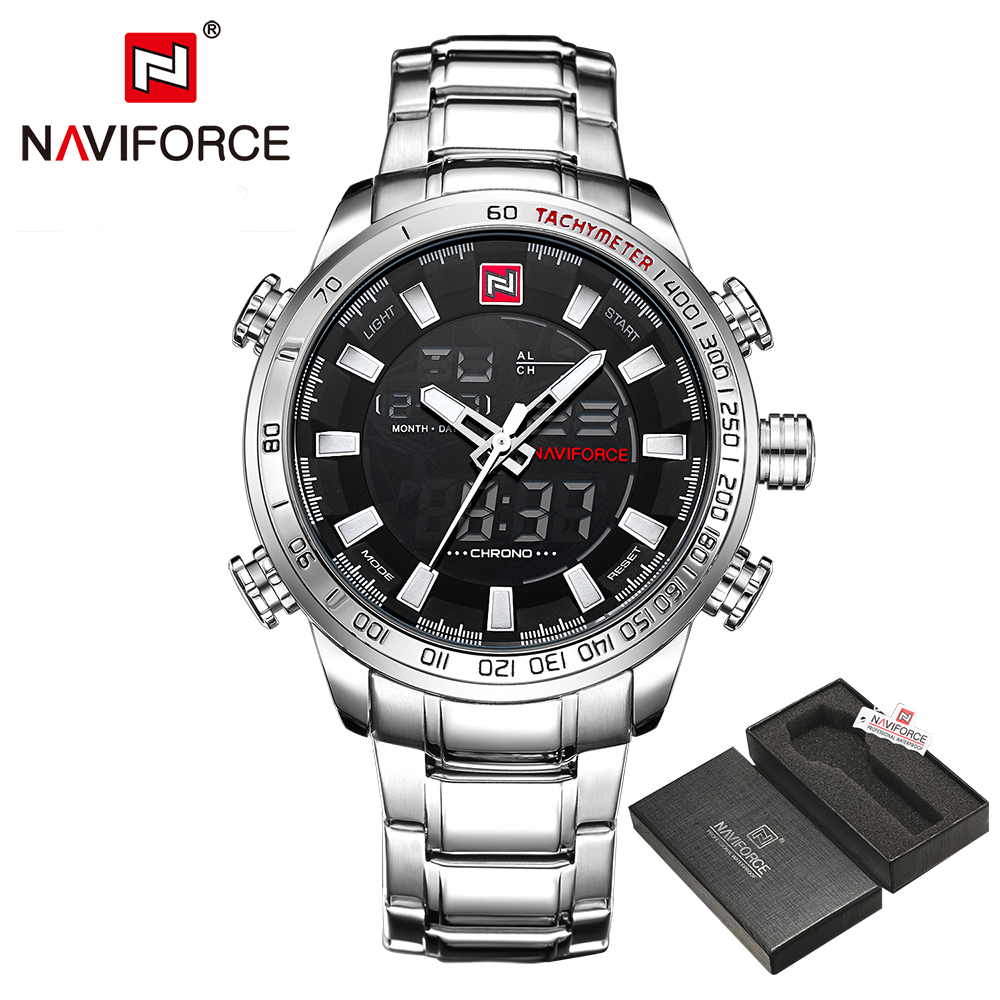 NAVIFORCE Luxury Brand Fashion Sport Wristwatch Waterproof Stainless Male Watches Mens Quartz Analog Watch Relogio Masculino