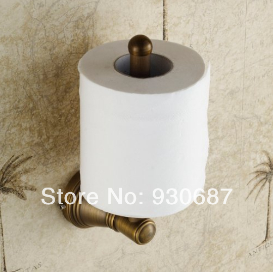 Elegant Antique Brass Bathroom Toilet Paper Holder Roll Wall Mount Tissue Holder retro kitchen toilet paper holder roll tissue holder bathroom accessories antique brass wall mount eu stock