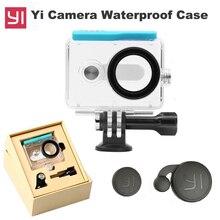 цена на Original Xiaoyi Waterproof Housing Case for Xiaomi Yi Camera Diving 45m under water + Lens cover Xiao Mi Yi xiaoyi Accessories