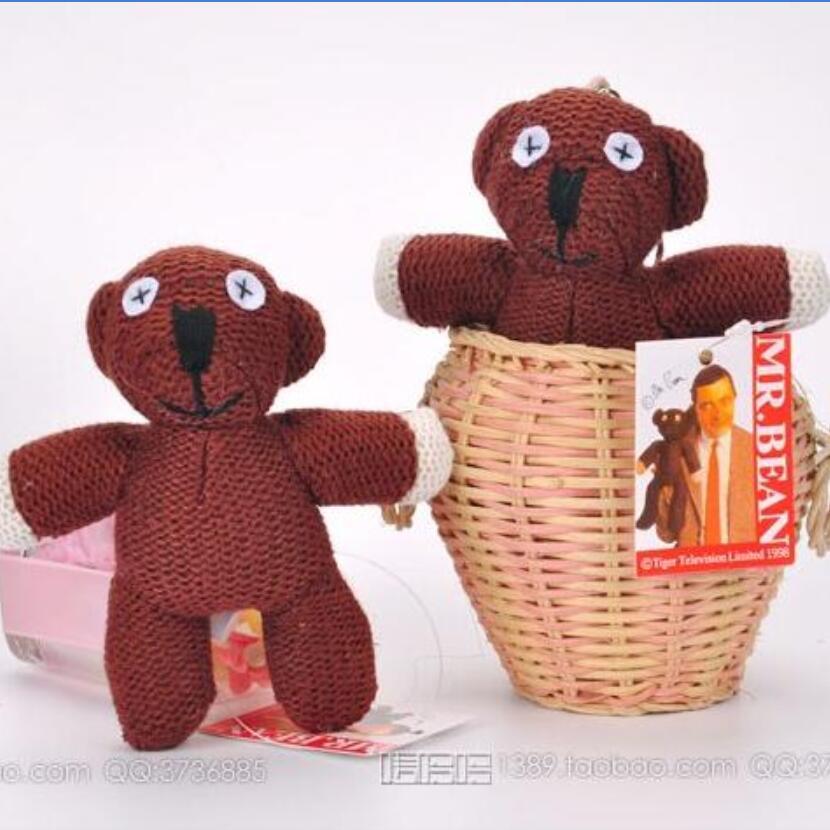 Цельнокроеное платье 10 см Мистер Бин Мишка животных мягкие плюшевые игрушки, коричневый рис Кукла Детский Рождественский подарок игрушки Б... ...