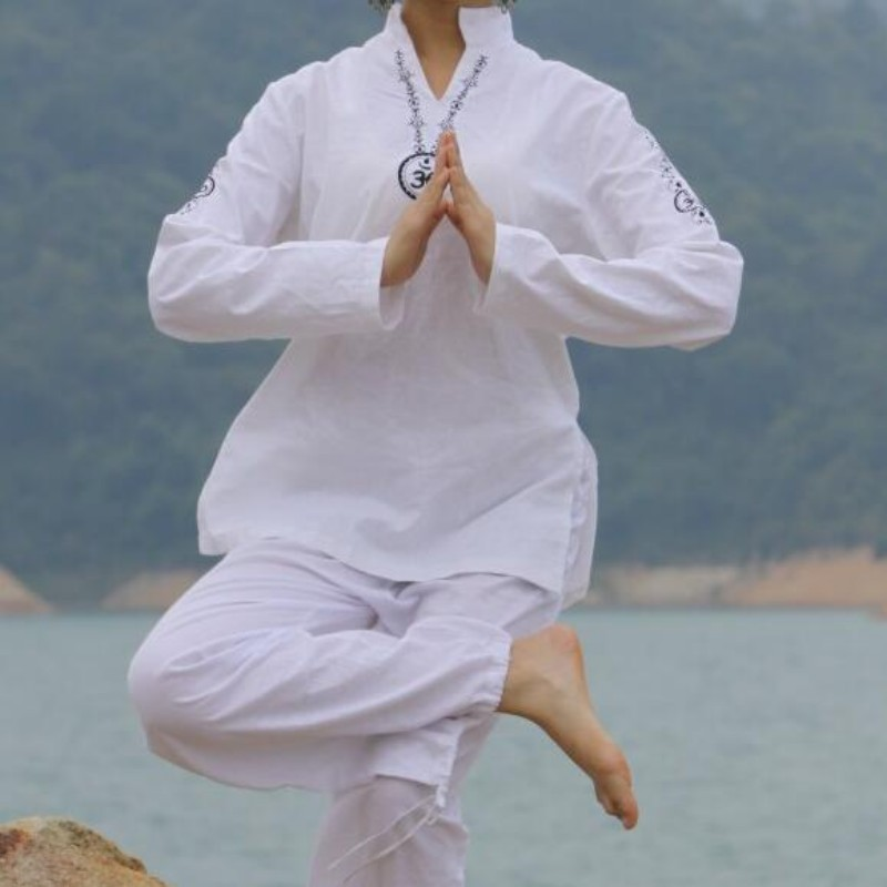 Top Quality Print Flower Design Long Sleeve Yoga Martial Arts Trousers For Women Shaolin Monk Clothing Kendo Tai Chi Roupas Sets high quality kendoist white kendo laido aikido hapkido hakama martial arts uniforms japanese dobok sz xxs 6xl